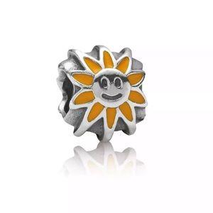 Pandora Retired Silver Shining Sun Charm